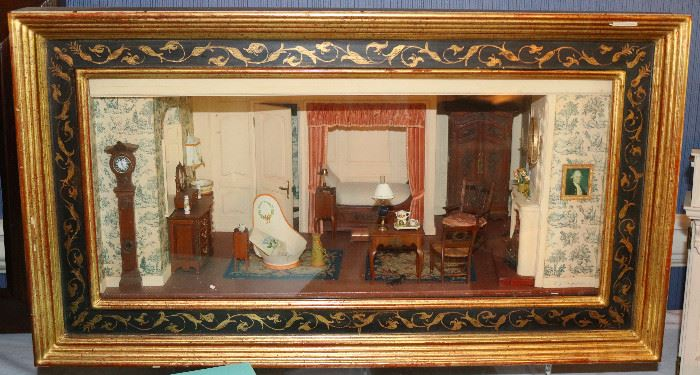 Eugene Kupjack custom made furnished room, signed