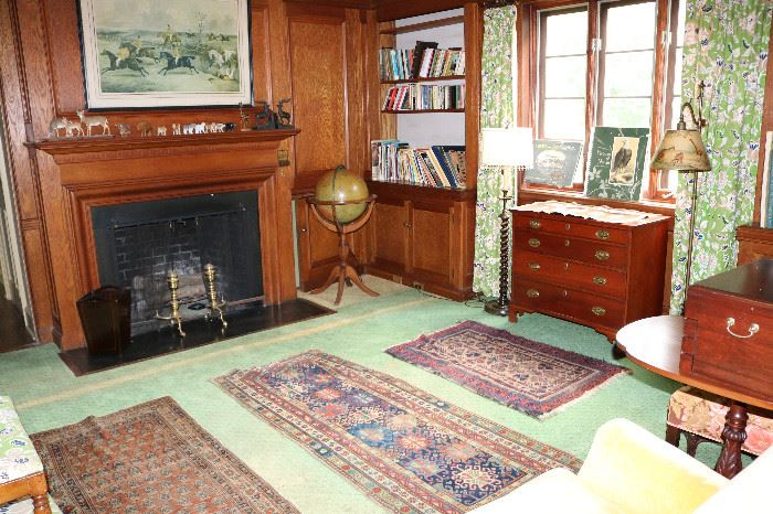 Hand knotted antique rugs and furniture