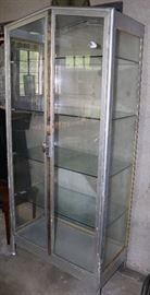 Killer glass and metal two door cabinet