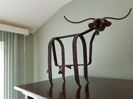 """Mini Bull Sculpture"" by Robert Cumpston, 1998"