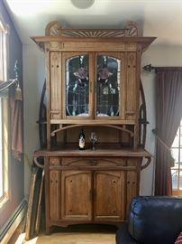Art Nouveau bar cabinet