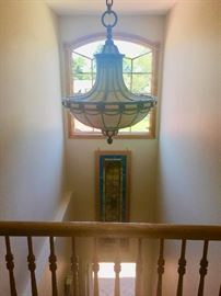 Antique Venetian Glass chandelier from theater