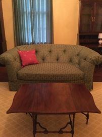 Clyde Pearson Tuffed Sofa with Down Cushion.