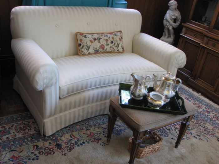 loveseat, tea service