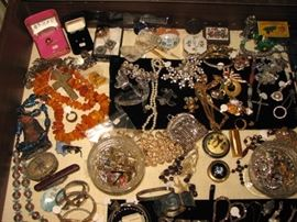 Jewelry including sterling, amber and more