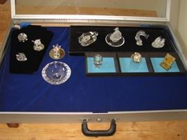 Swarovski, Baccarat, Lalique crystal