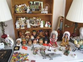 Large collection of Bosson, chalkware figures.