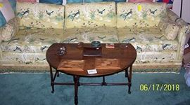 93 in. Highland House of Hickory sofa, drop leaf coffee table