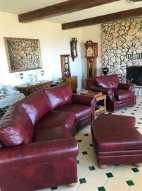 3pc Leather sofa