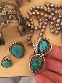 Vintage Old Pawn and Signed Native American Jewelry