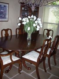 Dining Table with Extension and 6 Chairs, Custom Fit Table Pads/Protectors