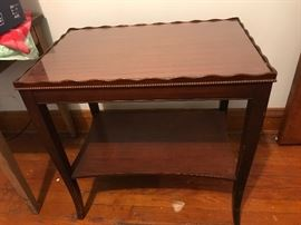 Antique pair of end tables