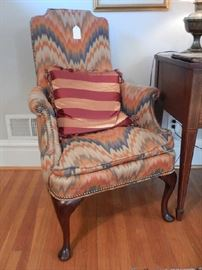 PAIR OF FLAME STITCH CHAIRS