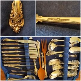 Wallace Sterling Silver Flatware Set