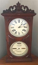 Super Ithaca double dial calendar clock