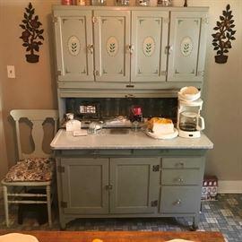 Outstanding vintage double Hoosier cabinet