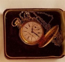 14kt gold case Bijou pocket watch
