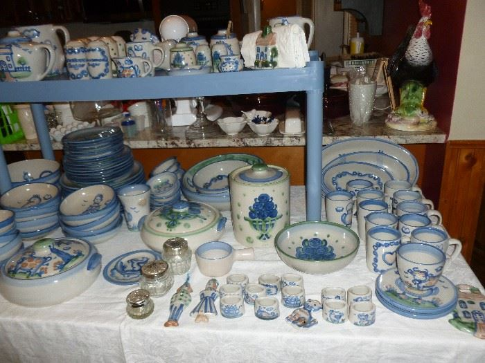 Hand painted M.A.Hadley dishes