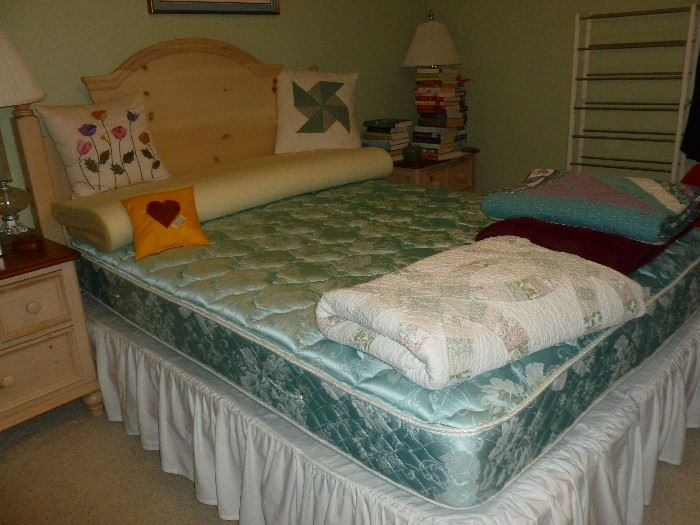 Headboard (and footboard, but not shown) & full size mattress set