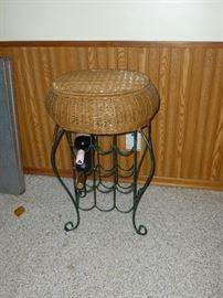 Neat wine rack stool