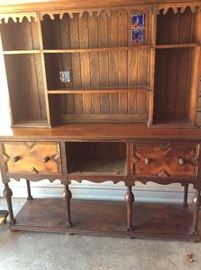 Antique Wood Buffet