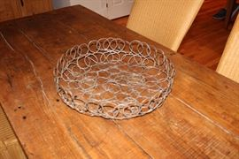 Wire framed bowl