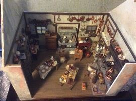 Miniature house and miniature contents