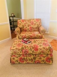 Oversized chair and ottoman in good condition.  Very comfortable