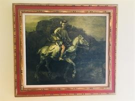 Framed pic/copy on canvas  32x36 The Polish Rider by Rembrandt