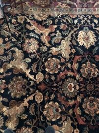 super rug. hand done. tight weave. beautiful colors. Owner paid $6000.  Yours for a fraction of the cost!