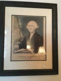Antique Print George Washington