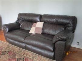 motorized Catnapper leather sofa