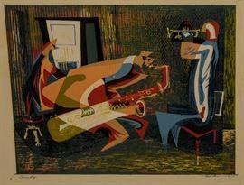 JAMES McCONNEL c.1949 SIGNED S ILK SCREEN PRINT