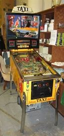Williams Taxi pinball machine. Has keys and manual. Works. Currently set for free play