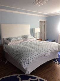 King Size Bed with padded headboard