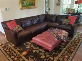 Leather sectional sofa by: Expressions