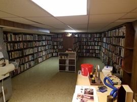 Large collection of hard cover books