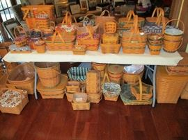 LONGABERGER BASKETS WITH COLOR