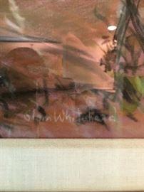 Original Pastel on Paper by Texas Artist Glenn Whitehead.