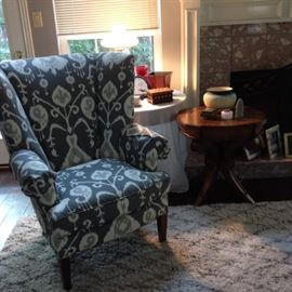 Kathy Adams Interiors wing back pair of chairs