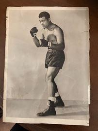1940's autographed original picture of Joe Lewis