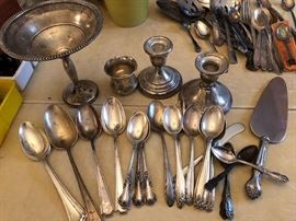 Sterling Silver Flatware and Compote