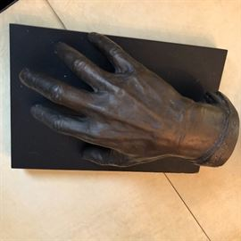 1941 Memorial Hand Scuplture of Ignacy Jan Paderewski. (1860-1941)  A Polish pianist and composer.  Spokesman for Polish independence.  3rd Prime Minister of Poland and 2nd Primeminister of the Republic of Poland.  By French artist M Hollman