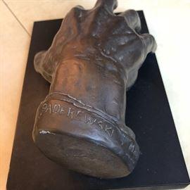 1941 Hollman hand sculpture