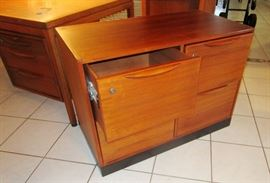Jens Risom Walnut file cabinet  early 1960 s
