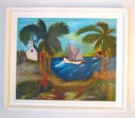 Original signed oil on canvas--old Indian River