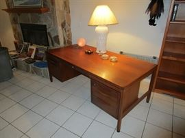 Danish Mid Century Jens Risom  Walnut Desk early 1960 s
