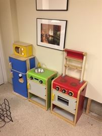 Play kitchen, three pieces, like new