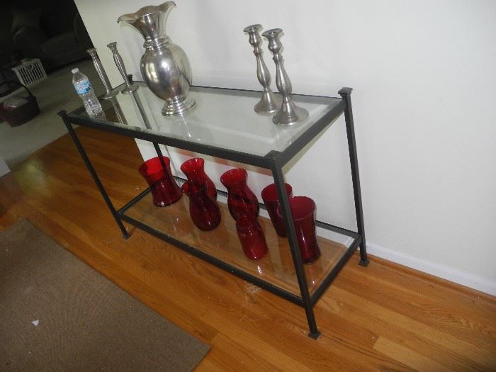 Entry way glass table