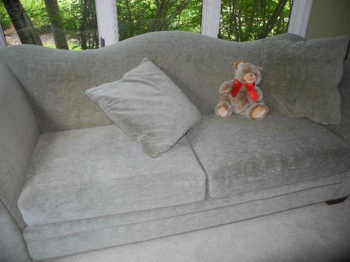 Lovely gray humpback sofa
